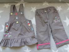 Komplet šaty+kalhoty, coccodrillo,74