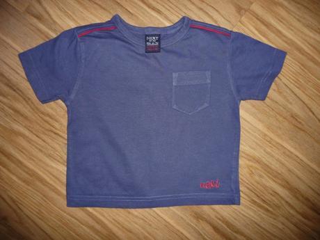 Modré triko next 6-9m-vel.74, next,74