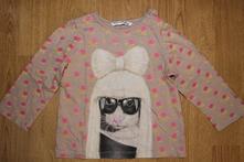 Tričko s kočkou, reserved,80