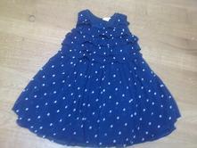 Puntíkaté volánkové šaty, h&m,86