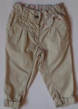 Dětské plátěné kalhoty, pláťáky, pláťáčky, zn.next, next,80