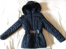 Zimní prošívaná bunda s kožíškem, l