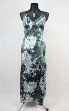 Saténové dlouhé šaty vel 48, 48