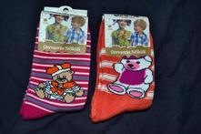 2x bavlněné teplé ponožky, 24 - 35
