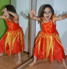 Karnevalové šaty čertice, ohnivá víla, čarodějnice,