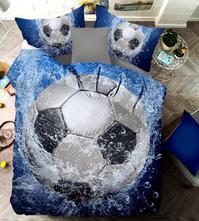 Dětské povlečení 3d-140x200 fotbalový míč- skladem, 140,200