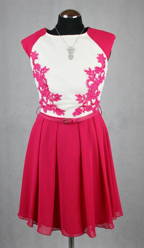 Růžové šaty vel 36, 36