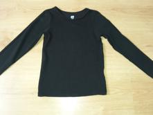 Černé triko z biobavlny, h&m,110