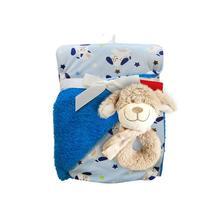 Dětská oboustranná deka s chrastítkem, 6 barev,