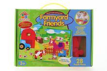 Pěnové puzzle v krabici farma (28 dílků),