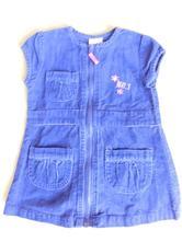 Manžestrové šaty s kapsami, 80
