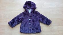 Fialový kabátek kožísek, george, 12-18 měsíců, george,86
