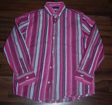Růžová pruhovaná košile, next,128