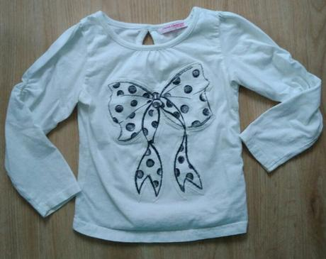 S5 - bílé tričko s mašličkou, 98