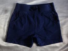 Vel. 98 modré bavlněné šortky, george,98