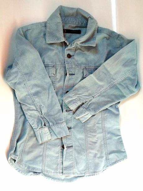 S105 - světle modré manžestráková košile-sako, 122