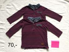 Trička s límečkem dlouhý rukáv, 74