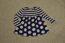 Modro-bílé šaty mini club, 92, miniclub,92