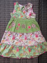 Květované zelené barevné šaty, 92-104,next, next,92