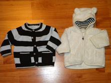 Chlupatkový kabátek zn.h & m a svetr zn.piper, h&m,56