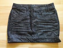 Riflová sukně takko, 3x vzata na sebe, vel.36, takko,36