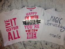 3krát tričko s nápisem, f&f,128