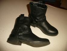 Kozačky nízké boty podzim koženka vel 34/35 22cm, 34