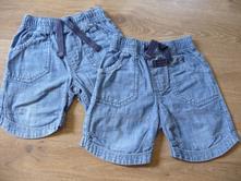 Riflové šortky pro dvojčata, 80