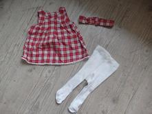 Šaty, punčochy a čelenka, h&m,50