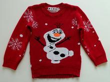 Olaf obrázkový svetr vel. 122, 122