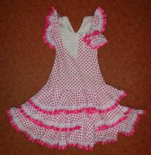 Kostým šaty tanečnice kankán, vel. 164, xs