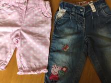 3/4 kalhoty,tříčtvrťáky vel.2-3-4, peppa pig s reg, next,98