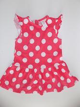 Červené puntíkované šaty, c&a,80