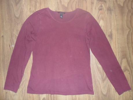 Vínově červené tričko , h&m,m