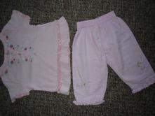 Letní plátěné kalhoty + tunika vel 74-80, cherokee,74