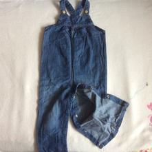 Riflový kalhotový letní overal zn. h&m, h&m,86
