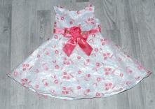 Slavnostní sváteční společenské bílo-růžové šaty, 92