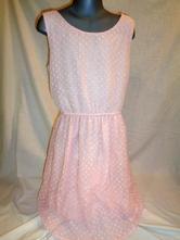 Luxusní růžové slavnostní šaty - luxusní vzadu, h&m,164