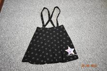 Bavlněná černá sukně s potiskem george, 146-152, george,146
