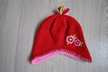 Zimní dívčí červená čepička, george,86