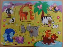 Vkládací puzzle zvířátka,