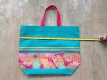 Letní plážová plast omyvatelná taška fuchsia,modrá,