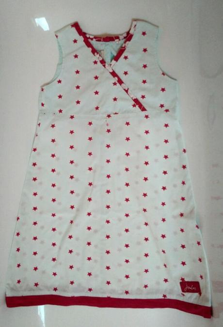 S62 - plátěné šaty s hvězdičkami, 122