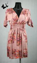 Květované lehké šaty s rukávy vel 38, 38