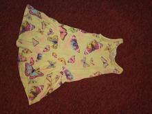 Šaty s motýlky h&m 122/128, h&m,122