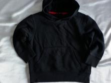 Vel. 110 černá mikina s kapucí, 110