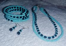 Set - náhrdelník, náramek, náušnice,