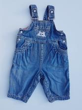 B23 dívčí riflové laclové kalhoty, h&m,62