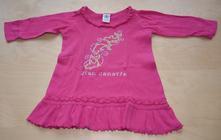 Šaty růžové s dlouhým rukávem, 92
