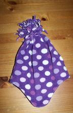 Teplá fialová čepice s puntíky 4-6 let, 92